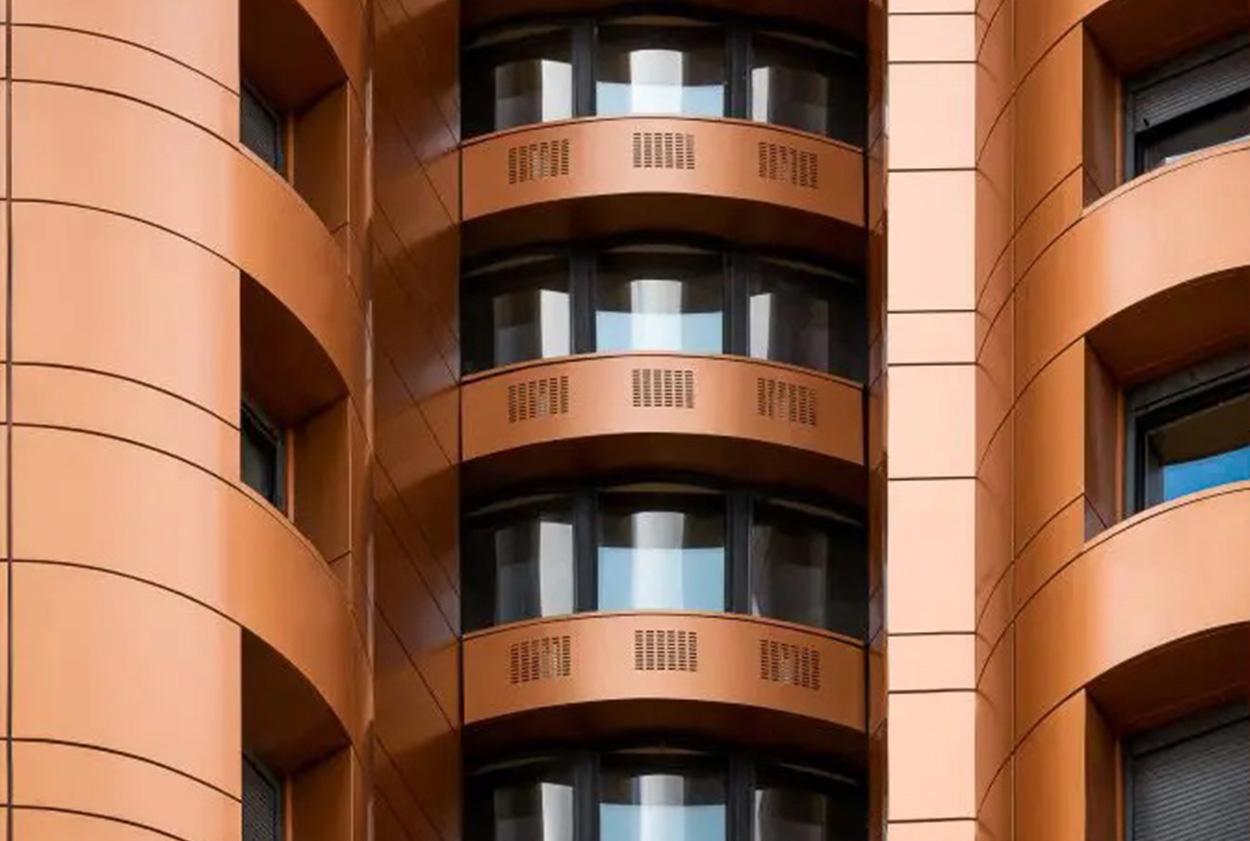 Photo façade - métal - planal planium - macro - Vetisol